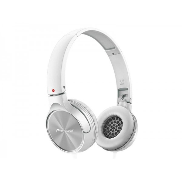 Pioneer SE-MJ522T-W Fully Enclosed Dynamic Headphones with Microphone