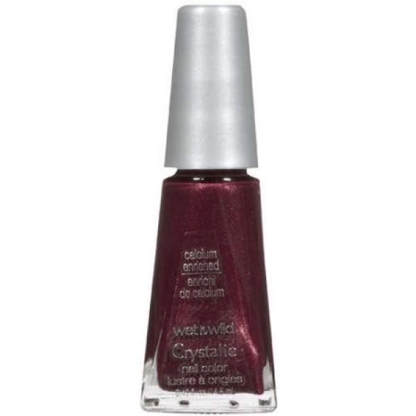 Wet n Wild Crystalic Nail Polish Colour - 497C Deep Wine
