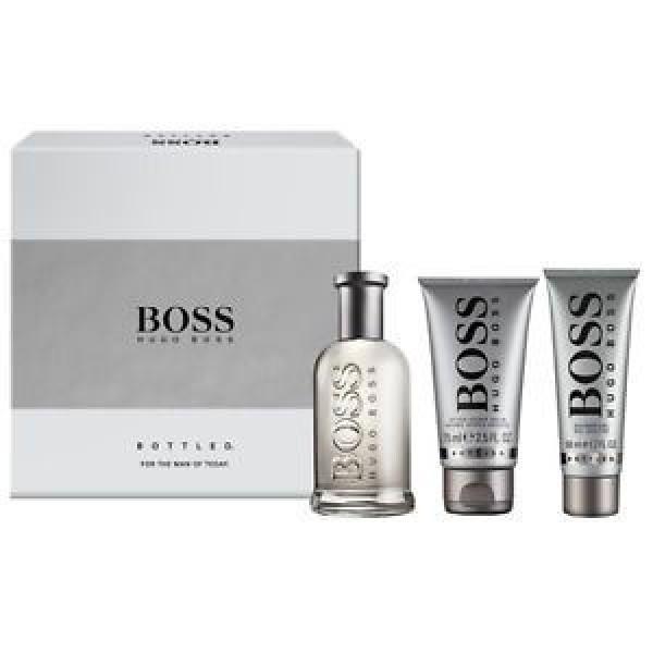 Boss Bottled 100ml EDT Spray / 75ml Aftershave Balm / 50ml Shower Gel
