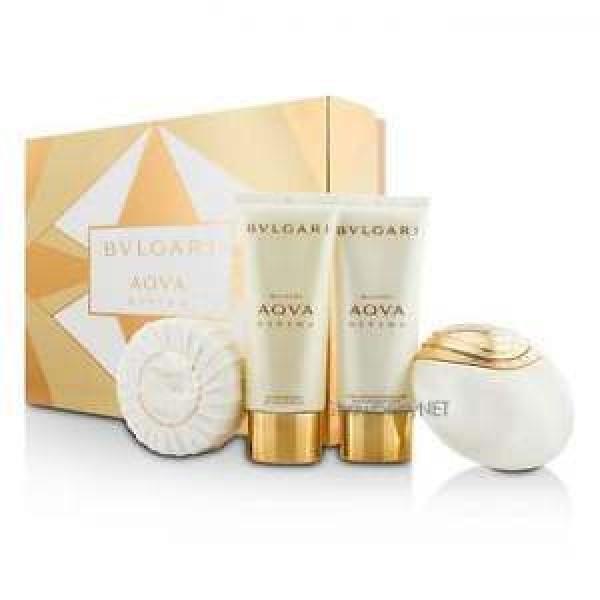 Bulgari Aqua Divina 65ml EDT Spray / 150g Soap / 100ml Shower Gel / 100ml Body Lotion