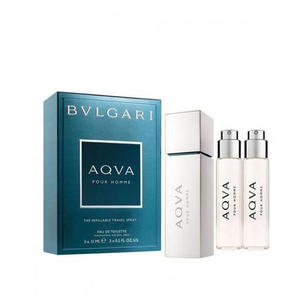 Bulgari Aqua Pour Homme 3 x 15ml EDT Refillable Spray