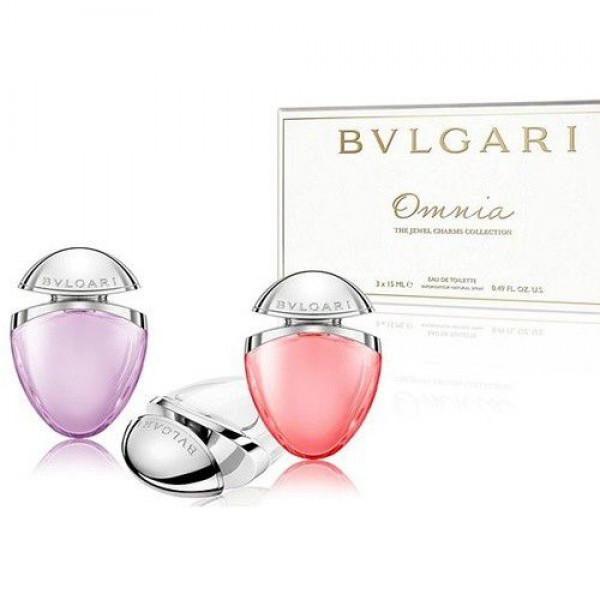 Bulgari The Jewel Charms Collection / Omnia Crystalline 15ml EDT Spray / Omnia Coral 15ml EDT Spray / Omnia Amethyste 15ml EDT Spray