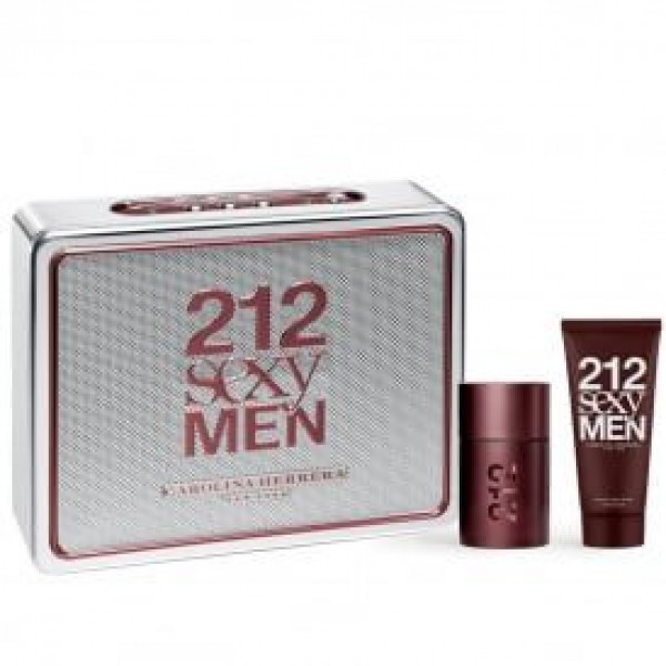 Carolina Herrera 212 Sexy Men 50ml EDT Spray / 75ml Aftershave Balm
