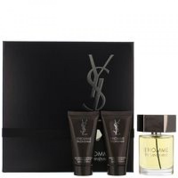 YSL L'Homme 60ml EDT Spray / 50ml Shower Gel / 50ml Aftershave