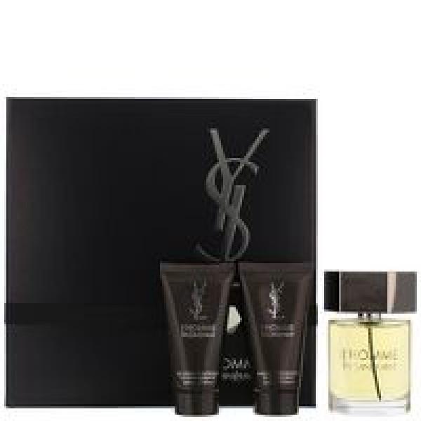 YSL L'Homme 60ml EDT Spray / 50ml Shower Gel / 50ml Aftershave