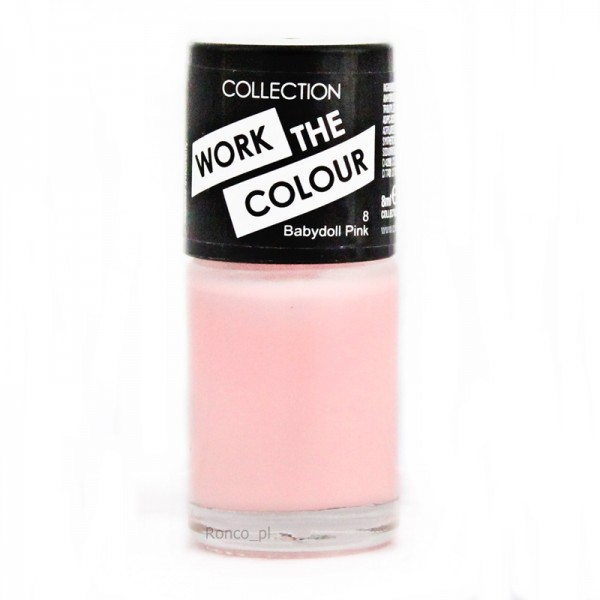 Collection Work The Colour Nail Polish  - 8 Babydoll Pink