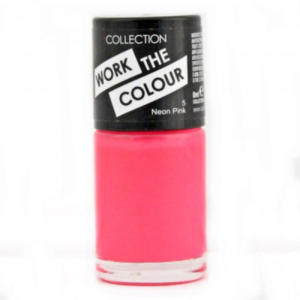 Collection Work The Colour Nail Polish  - 5 Neon Pink