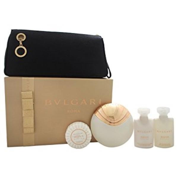 Bulgari Aqua Divina 65ml EDT Spray / 40ml Body Lotion / 40ml Bath and Shower Gel / 50g Scented Soap / Beauty Pouch